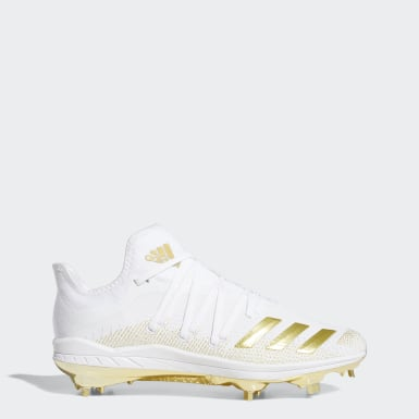 Men's Baseball White Afterburner 6 Cleats