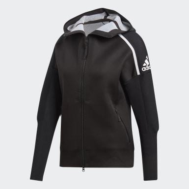 Women Athletics Black adidas Z.N.E. Primeknit Hoodie