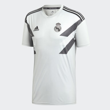 Men Football Grey Real Madrid Home Pre-Match Jersey
