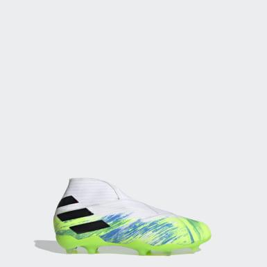 Boys Fodbold Hvid Nemeziz 19+ Firm Ground støvler