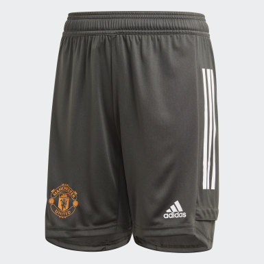 Kids Football Green Manchester United Training Shorts