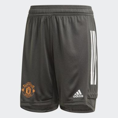 Short d'entraînement Manchester United Vert Enfants Football