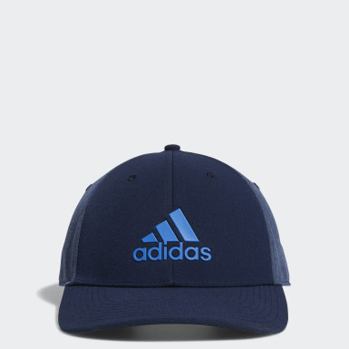 Men Golf Blue A-Stretch adidas Badge of Sport Tour Hat