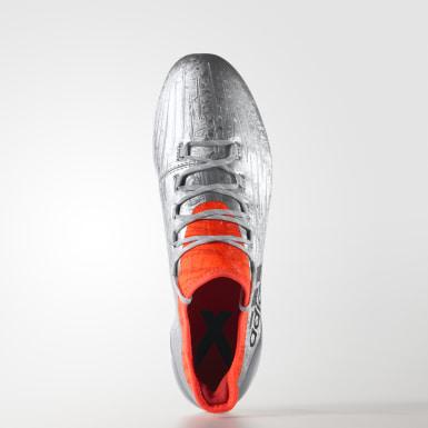 Zapatos de fútbol para pasto natural X 16.1 Plata Hombre Fútbol