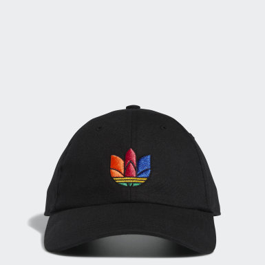 Men's Originals Black 3D Trefoil Strap-Back Hat