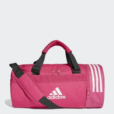 Training Pink Convertible 3-Stripes Duffel Bag Small