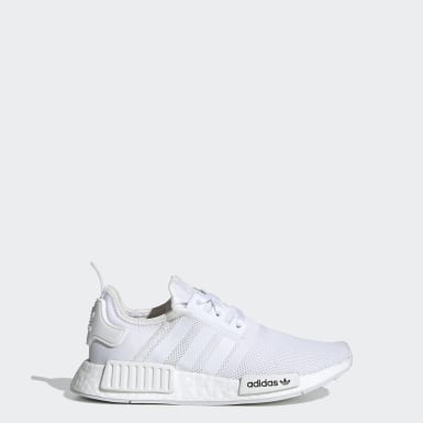 Chaussure NMD_R1 blanc Adolescents Originals
