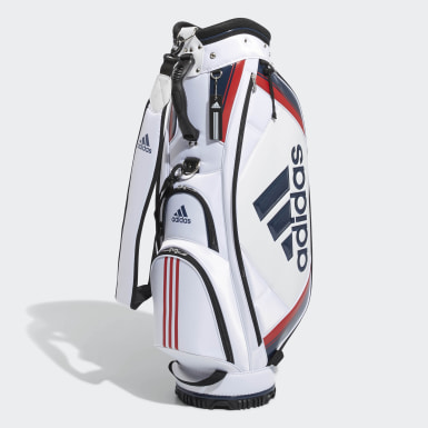 Men Golf White Basic Caddie Bag