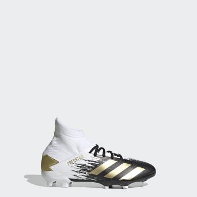 Boys Football White Predator Mutator 20.3 Firm Ground Boots
