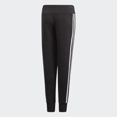 เด็กผู้หญิง เทรนนิง สีดำ กางเกงขายาว Must Haves 3-Stripes