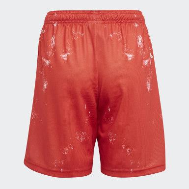 Kinder Fußball FC Bayern München Human Race Shorts Rot