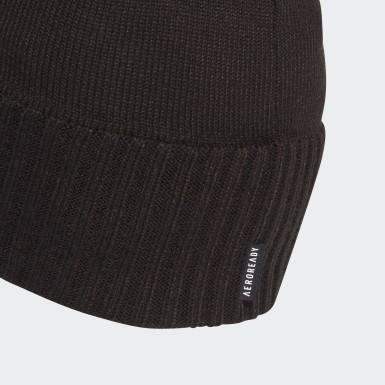 Trénink černá Čepice AEROREADY Half-Fleece-Lined