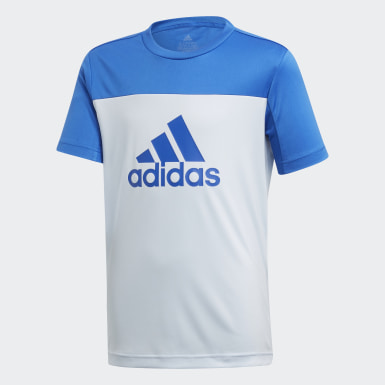 Boys Training Blue Equipment Tee