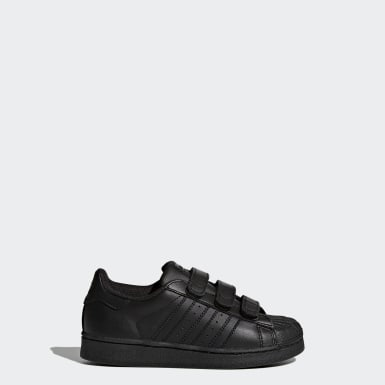 Children Originals Black Superstar Foundation Shoes