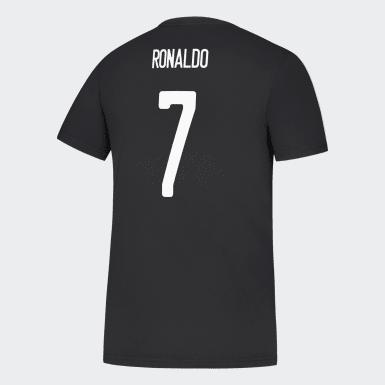 Men Soccer Black Juventus Tee