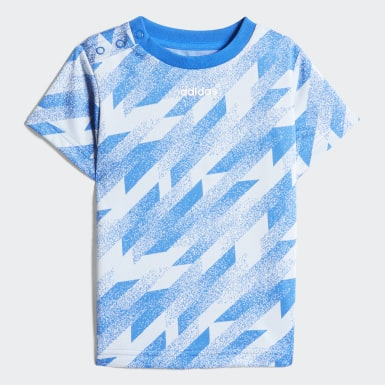 Kinder Athletics Short Sleeve Set Blau
