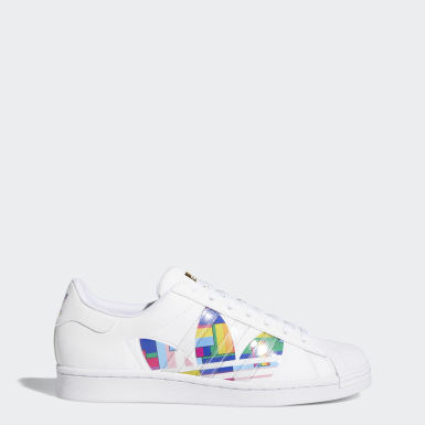 Men's Originals White Superstar Pride Shoes