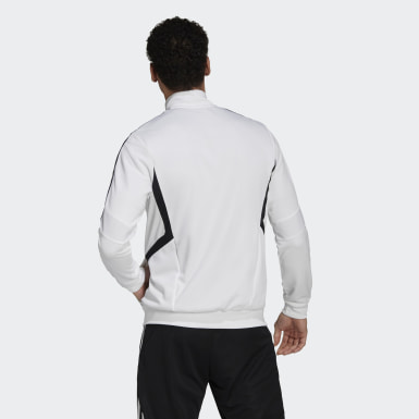 Men's Soccer White Tiro Track Jacket