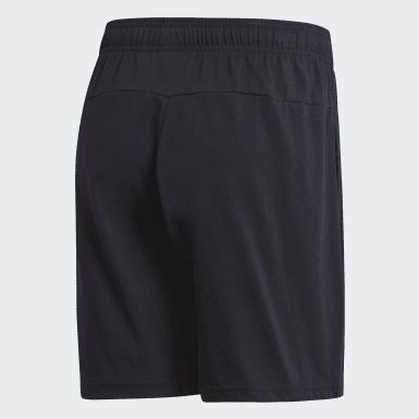 Men Training Black Essentials Linear Single Jersey Shorts