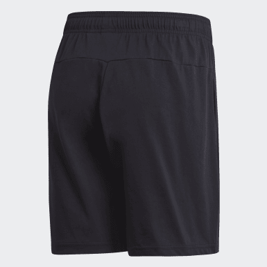 Pantalón corto Essentials Linear Single Jersey Negro Hombre Training