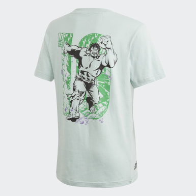 Boys Yoga Turquoise Marvel Hulk Graphic Tee