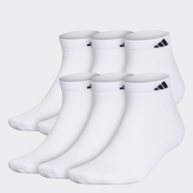 Men's Training White Athletic Cushioned Low-Cut Socks 6 Pairs XL