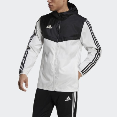 Men's Soccer White Tiro Windbreaker