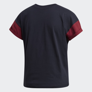 Camiseta Sport ID Badge of Sport Azul Mulher Running