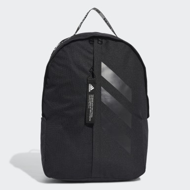 Training Black Classic 3-Stripes at Side Backpack