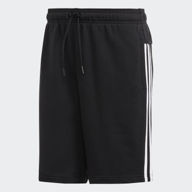Shorts French Terry Must Haves 3 bandas Negro Hombre Athletics