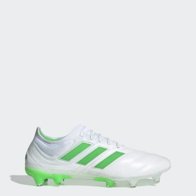Men Football White Copa 19.1 Firm Ground Boots
