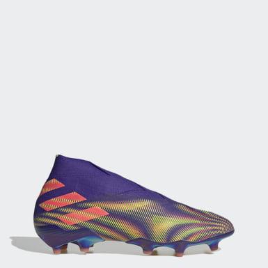 Bota de fútbol Nemeziz+ césped natural seco Violeta Fútbol