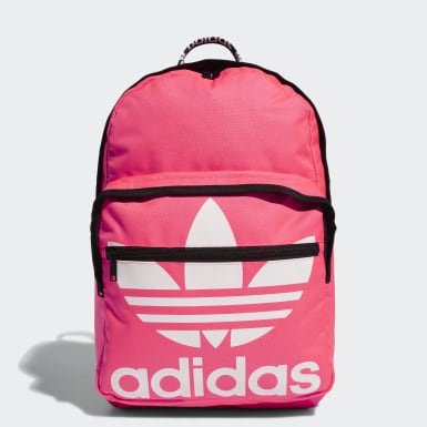 Originals Pink Trefoil Pocket Backpack
