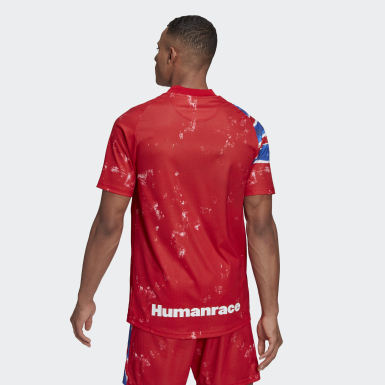 Heren Voetbal rood FC Bayern München Human Race Voetbalshirt