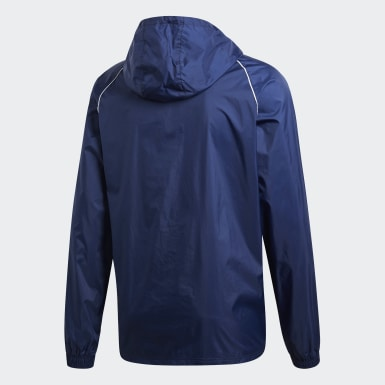 Men Training Blue Core 18 Rain Jacket