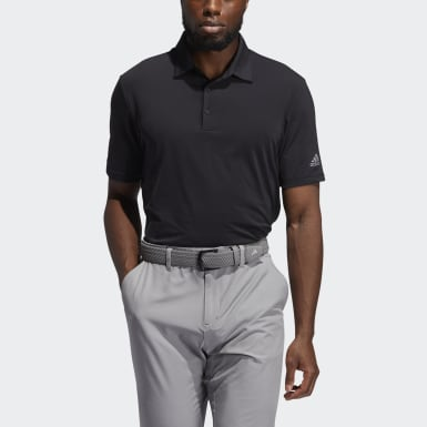 Men Golf Black Ultimate365 Solid Polo Shirt