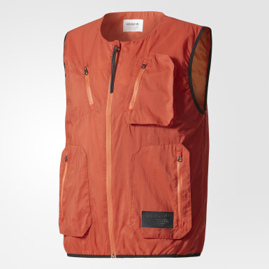 Men Originals Red Utility Vest