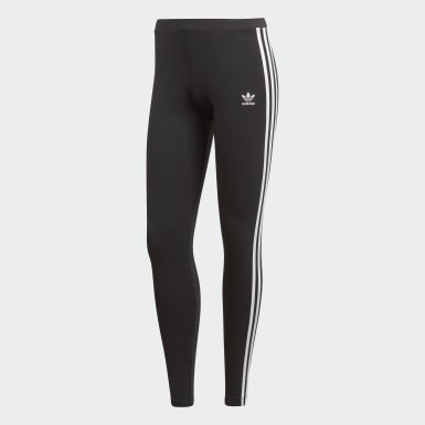 Women Originals Black 3-Stripes Leggings