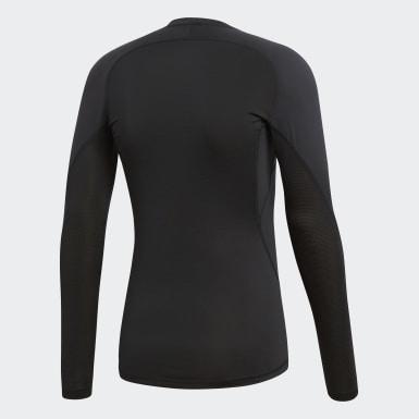 Men HIIT Black Alphaskin Sport Long-Sleeve Top