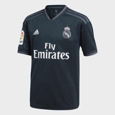 Mini Kit Away Real Madrid Grigio Bambini Calcio