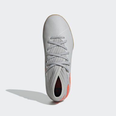 Calzado de Fútbol Nemeziz 19.3 Bajo Techo (UNISEX) Gris Niño Fútbol
