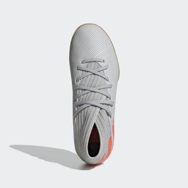 Children Soccer Grey Nemeziz 19.3 Indoor Shoes