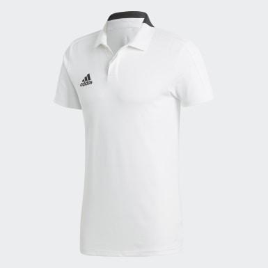 Mænd Fodbold Hvid Condivo 18 Cotton polotrøje
