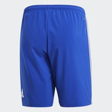 Short Condivo 18 Bleu Hommes Football