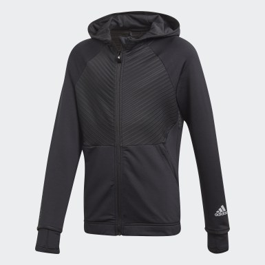 Chaqueta con capucha COLD.RDY Full-Zip Negro Niña Training