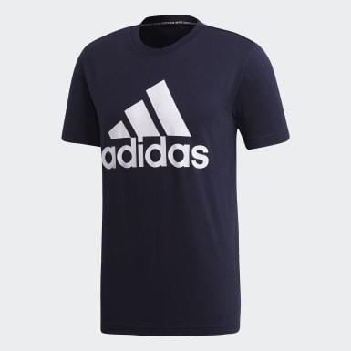 Men Sport Inspired Blue Must Haves Badge of Sport Tee