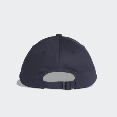 Training Six-Panel Classic 3-Streifen Kappe Blau