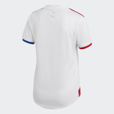 Dames Voetbal wit Olympique Lyonnais 20/21 Thuisshirt