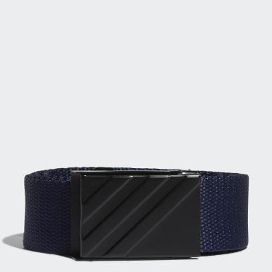 Men Golf Blue Webbing Belt