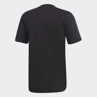 Männer Athletics Essentials 3-Streifen T-Shirt Schwarz